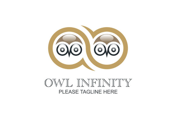 Download Free Owl Infinity Logo Grafico Por Friendesigns Creative Fabrica for Cricut Explore, Silhouette and other cutting machines.