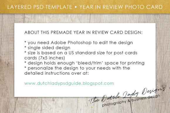 Print on Demand: PSD Year in Review Photo Collage Card Template Graphic Print Templates By daphnepopuliers - Image 5