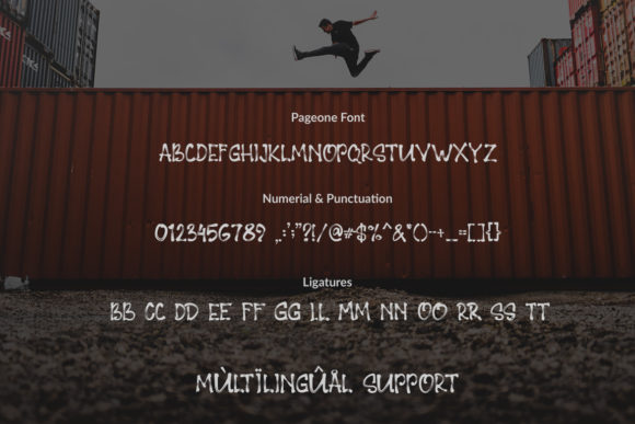 Print on Demand: Pageone Display Font By Subectype - Image 2