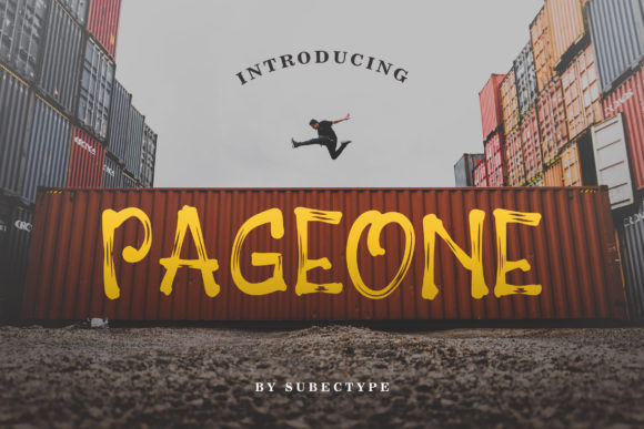 Print on Demand: Pageone Display Font By Subectype