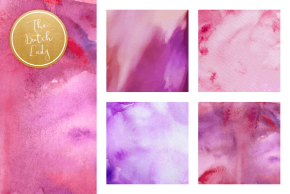 Print on Demand: Paint Texture Scrapbook Papers in Purple, Pink & Blue Graphic Textures By daphnepopuliers - Image 3