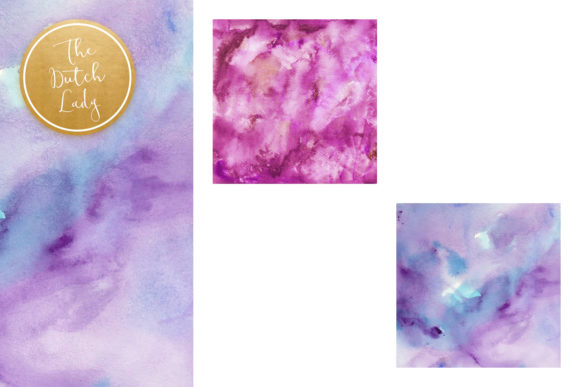 Print on Demand: Paint Texture Scrapbook Papers in Purple, Pink & Blue Graphic Textures By daphnepopuliers - Image 4