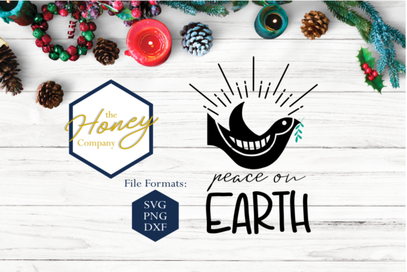 Peace on Earth SVG Graphic Crafts By The Honey Company
