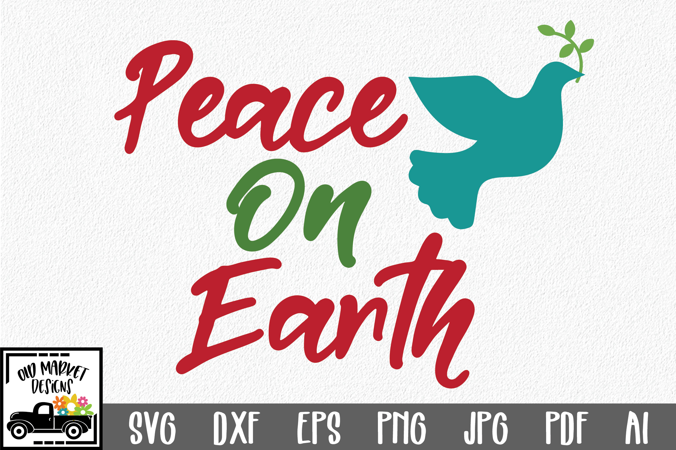 Download Free Peace On Earth Svg Christmas Svg Cut File Graphic By for Cricut Explore, Silhouette and other cutting machines.