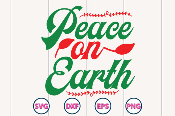 Peace on Earth Graphic Crafts By graphiccyle