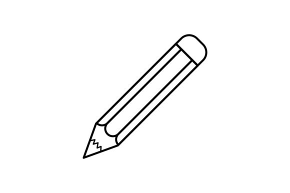 Print on Demand: Pencil Graphic Icons By khld939