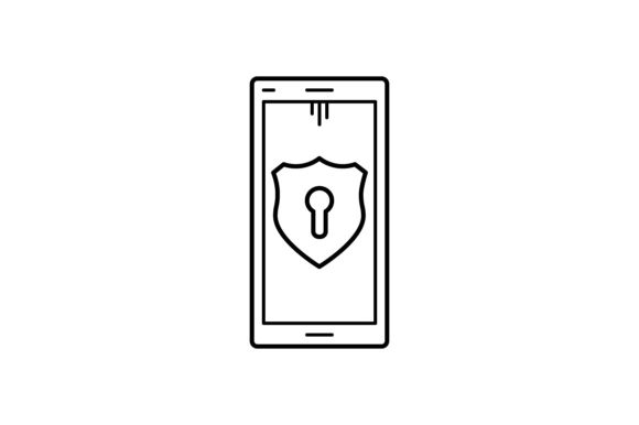 Print on Demand: Phone Protection Graphic Icons By khld939