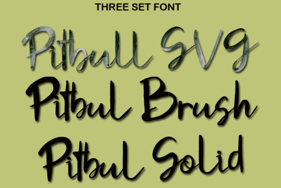 Print on Demand: Pitbull Color Fonts Font By FontCloud - Image 4
