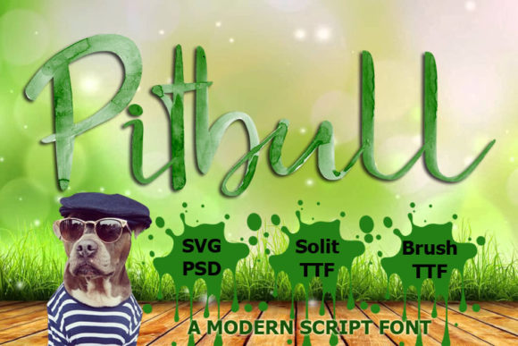 Print on Demand: Pitbull Color Fonts Font By FontCloud - Image 1