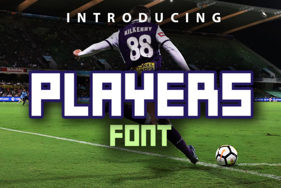 Print on Demand: Players Display Font By vladimirnikolic