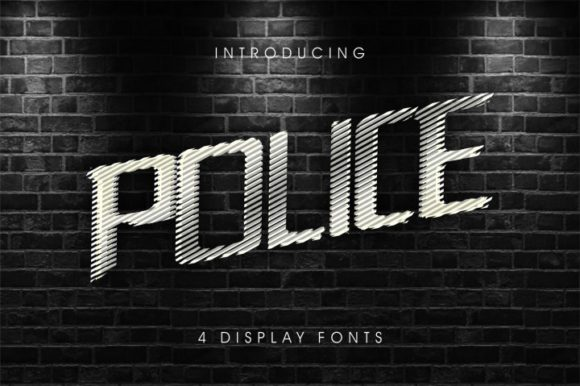 Print on Demand: Police Family Display Font By bywahtung