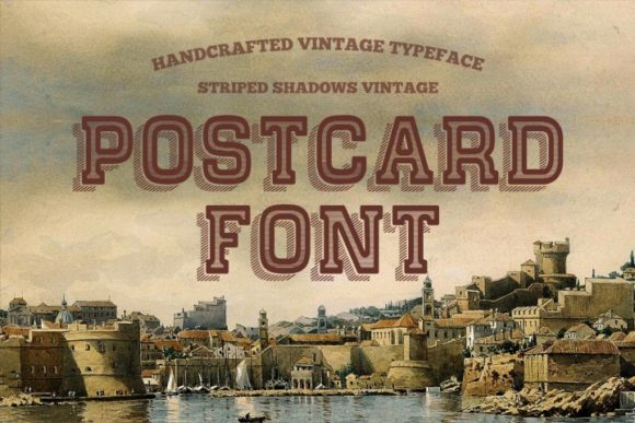 Print on Demand: Postcard Display Font By bywahtung