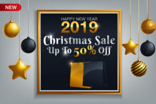 Download Free Poster For Christmas Sale Background Graphic By Inkwellapp for Cricut Explore, Silhouette and other cutting machines.