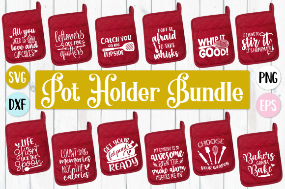 Download Free Pot Holder Bundle Graphic By Craft Pixel Perfect Creative Fabrica for Cricut Explore, Silhouette and other cutting machines.