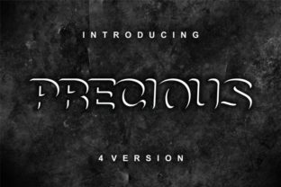 Print on Demand: Precious Family Display Font By bywahtung
