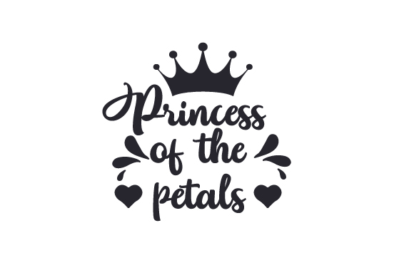 Princess Of The Petals Svg Cut File By Creative Fabrica