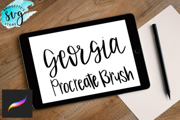Print on Demand: Procreate Brush for Lettering Graphic Graphic Templates By LuxMauve
