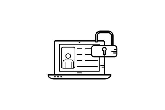Print on Demand: Profile Unlocked Graphic Icons By khld939