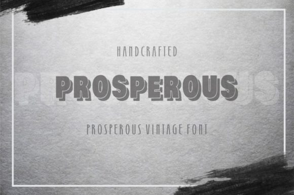 Print on Demand: Prosperous Display Font By bywahtung