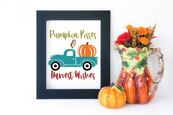Pumpkin Kisses Amp Harvest Wishes Svg Graphic By