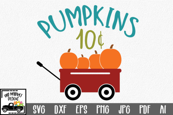 Pumpkins SVG - Fall SVG Cut File Graphic By oldmarketdesigns