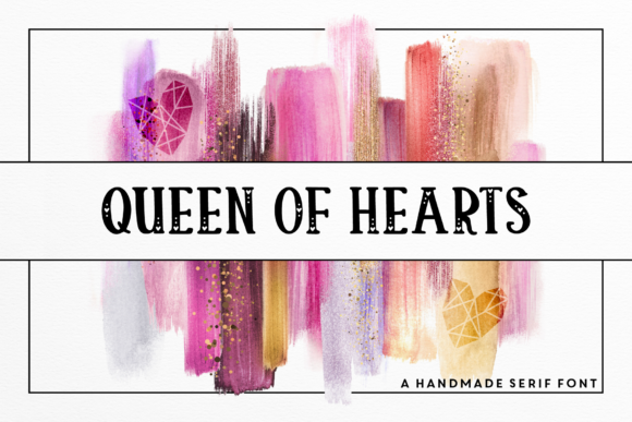 Download Free Queen Of Hearts Font By Emylia Design Creative Fabrica for Cricut Explore, Silhouette and other cutting machines.