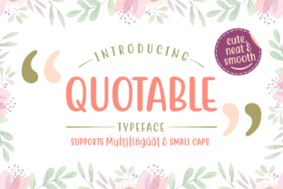Quotable Font By Situjuh