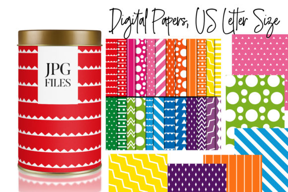 Download Free Rainbow Colors Digital Papers Graphic By Darrakadisha Creative for Cricut Explore, Silhouette and other cutting machines.