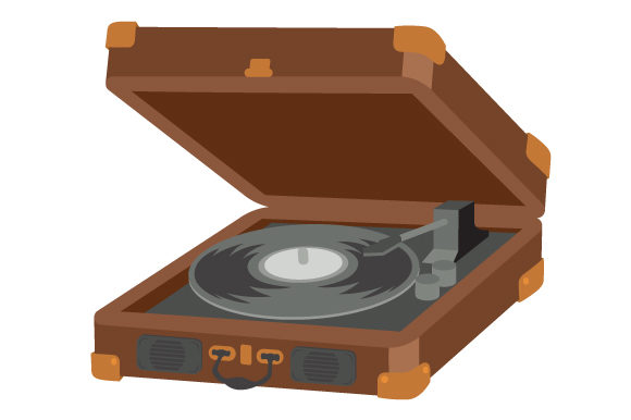 Download Free Record Player With A Vinyl Svg Cut File By Creative Fabrica for Cricut Explore, Silhouette and other cutting machines.