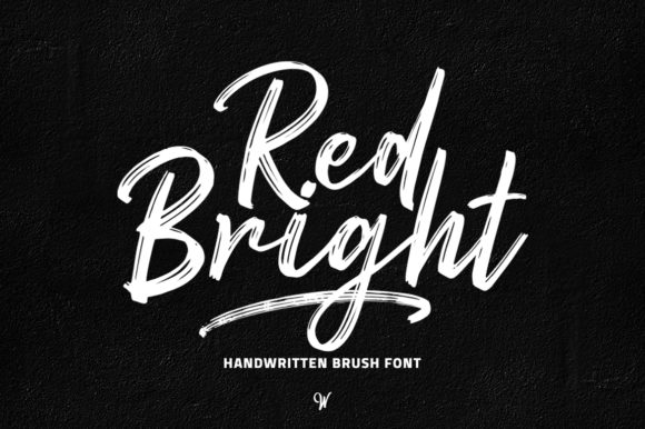 Print on Demand: Red Bright Script & Handwritten Font By Weape Design - Image 1