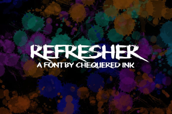 Refresher Display Font By Chequered Ink