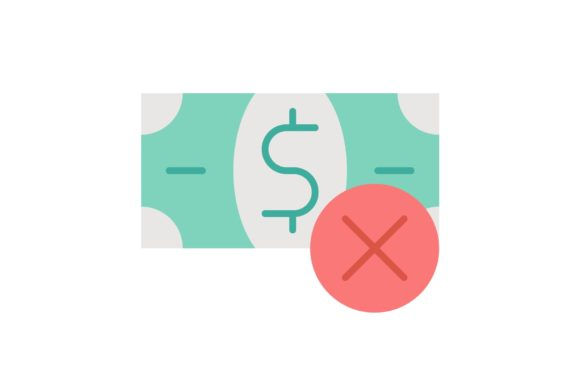 Print on Demand: Refuse Money Graphic Icons By Iconika