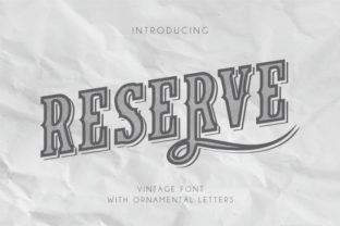 Print on Demand: Reserve Display Font By bywahtung
