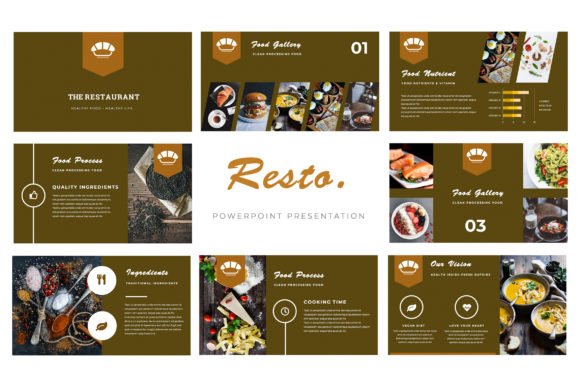 Resto Powerpoint Presentation Graphic By TMint