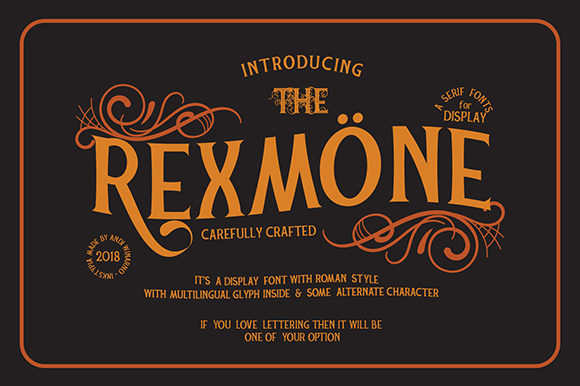 Print on Demand: Rexmone Serif Font By inkstypia