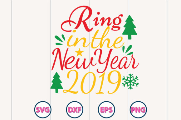 Ring in the New Year SVG Design Graphic Crafts By Graphiccycle