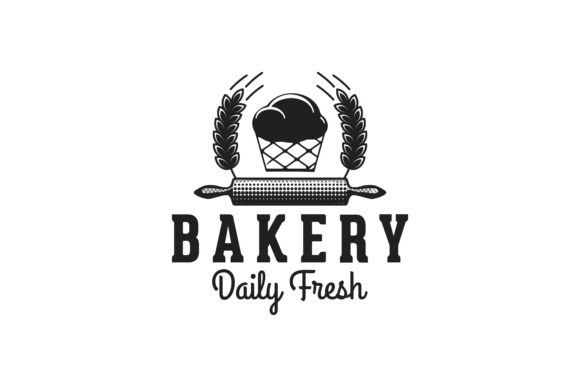 Download Free Rolling Pin Cupcake Bakery Logo Graphic By Yahyaanasatokillah for Cricut Explore, Silhouette and other cutting machines.