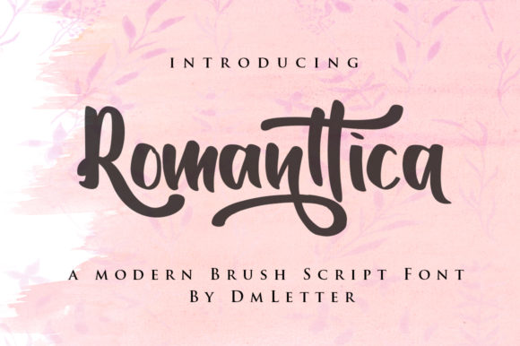 Print on Demand: Romanttica Script & Handwritten Font By dmletter31