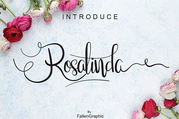 Print on Demand: Rosalinda Script Script & Handwritten Font By Fallengraphic