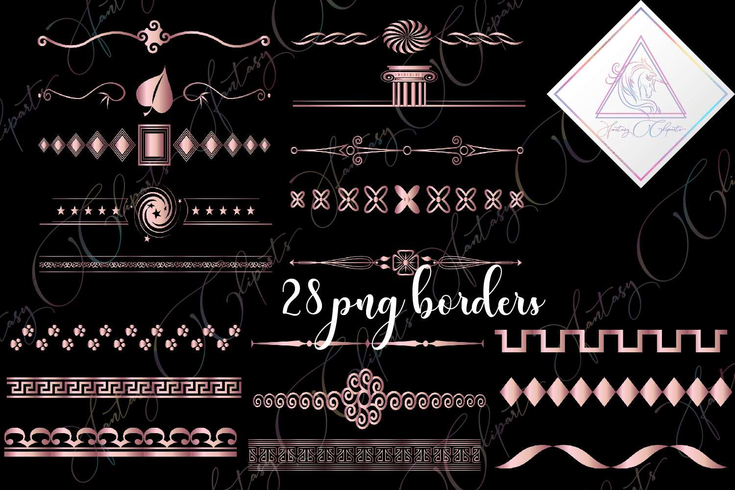 Download Free Rose Gold Borders Clipart Graphic By Fantasycliparts Creative Fabrica for Cricut Explore, Silhouette and other cutting machines.