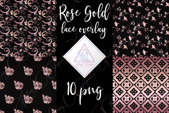 Print on Demand: Rose Gold Lace Clipart Graphic Illustrations By fantasycliparts