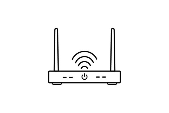Print on Demand: Router Graphic Icons By khld939