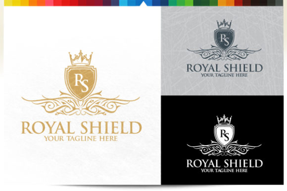 Download Free Royal Shield Logo Graphic By Acongraphic Creative Fabrica for Cricut Explore, Silhouette and other cutting machines.