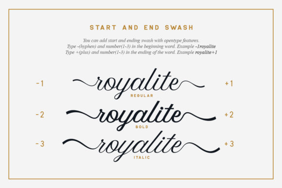 Print on Demand: Royalite Script Family Script & Handwritten Font By saridezra - Image 3