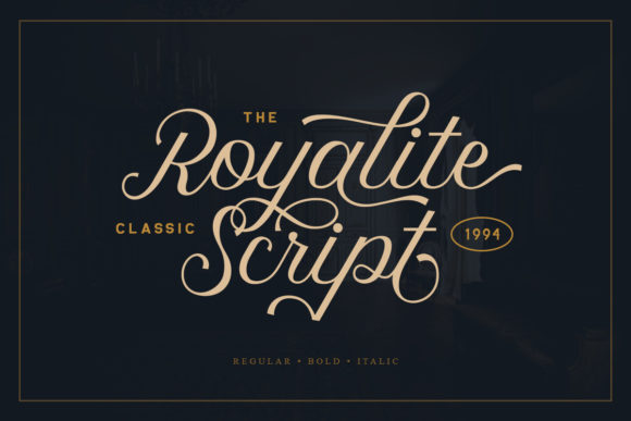 Print on Demand: Royalite Script Family Script & Handwritten Font By saridezra