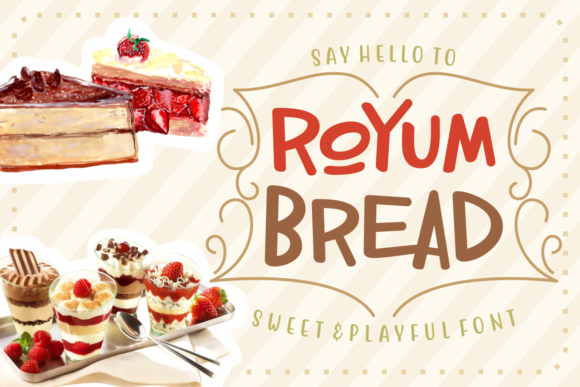 Print on Demand: Royum Bread Script & Handwritten Font By Rifki (7ntypes)