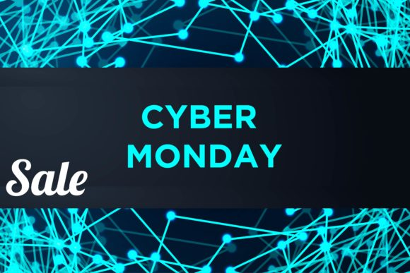Print on Demand: Sale Technology Banner for Cyber Monday Graphic Backgrounds By ojosujono96