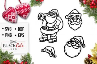 Santa Claus Faces Graphic By sssilent_rage