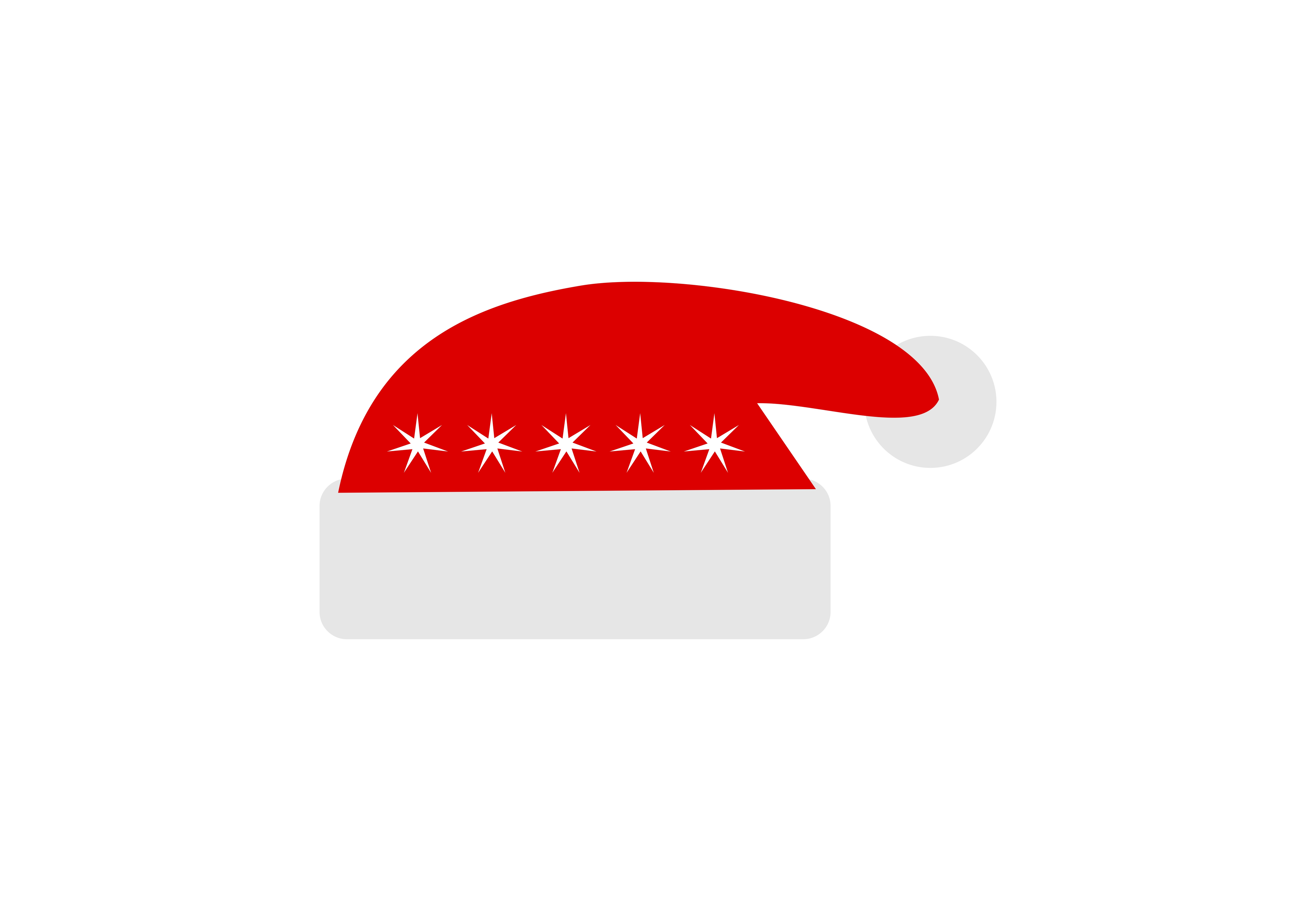 Download Free Santa Hat Christmas Atribute Logo Graphic By Deemka Studio for Cricut Explore, Silhouette and other cutting machines.