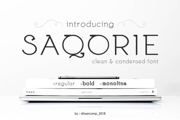 Print on Demand: Saqorie Family Display Font By Ahsancomp Studio